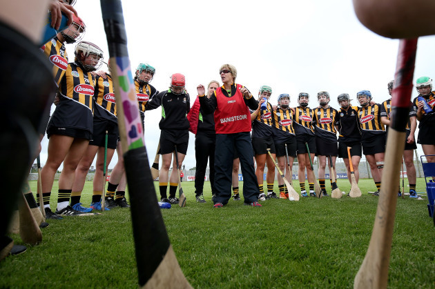 The Kilkenny team huddle prior to the game