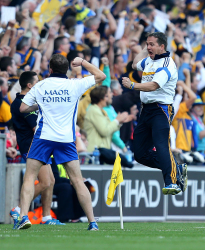 Davy Fitzgerald celebrates his sides second goal