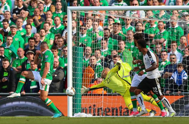 Martin Hinteregger scores his sides first goal