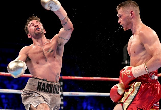Ryan Burnett in action against Lee Haskins