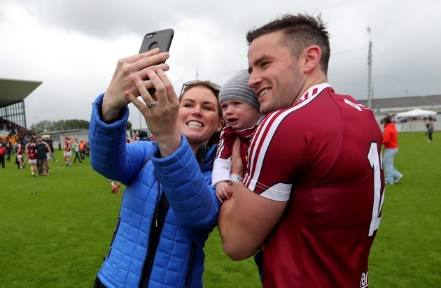 Noel Mulligan of Westmeath with Jennifer and Luke Castles