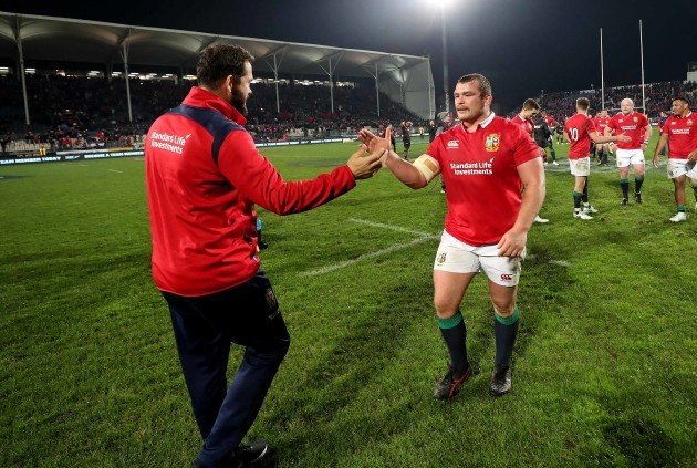 Andy Farrell with Jack McGrath after the game