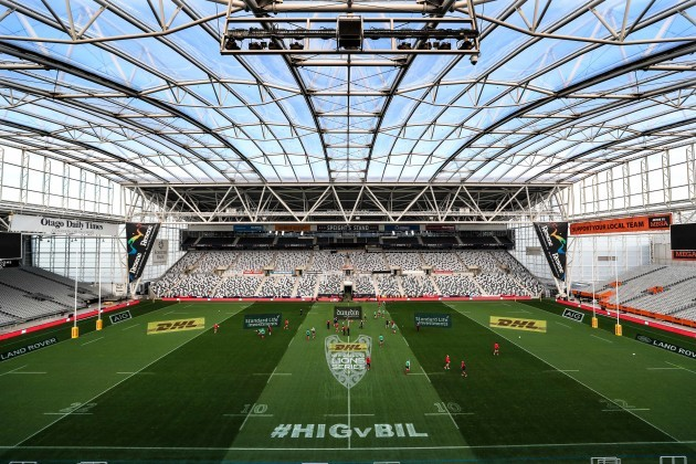 The Forsyth Barr stadium in Dunedin during the Captains Run