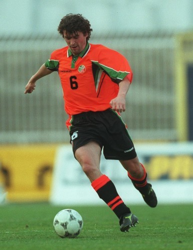 Roy Keane Republic of Ireland soccer. 2/4/1997.