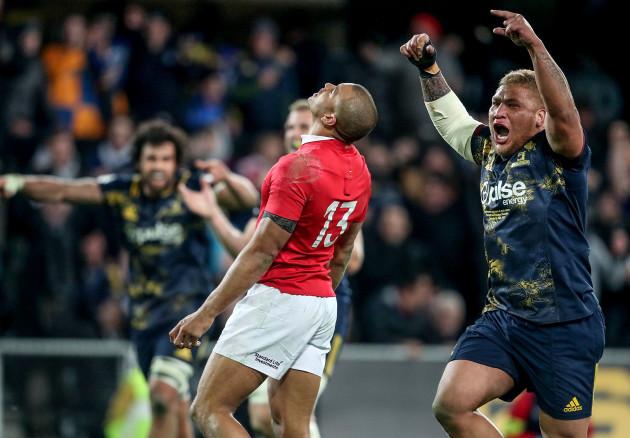 Siua Halanukonuka celebrates his sides victory
