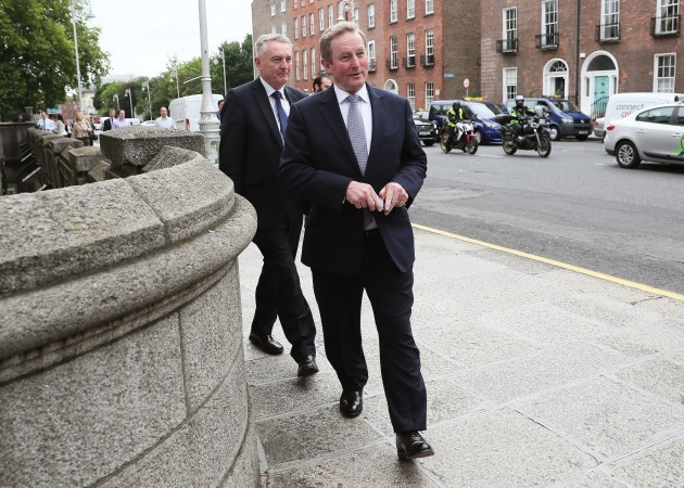 Outgoing Taoiseach Enda Kenny
