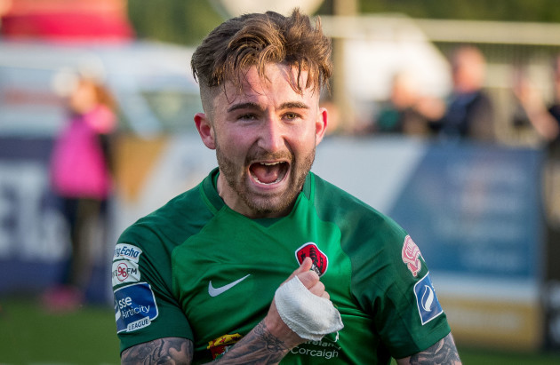 Sean Maguire celebrates scoring their second goal
