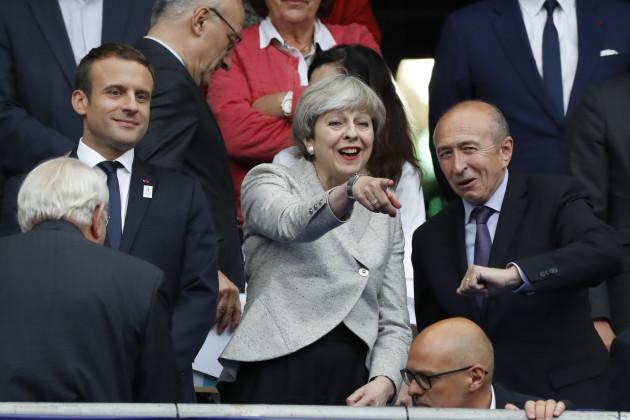 France vs England - Emmanuel Macron And Theresa May