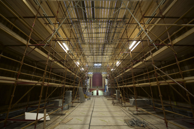 Grand Gallery, scaffolding