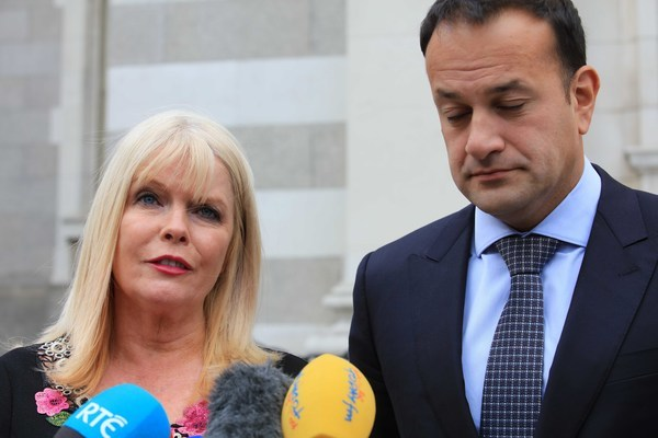 File Photo Mary Mitchell O Connor declares support for Leo Varadkar in Leadership race. End.