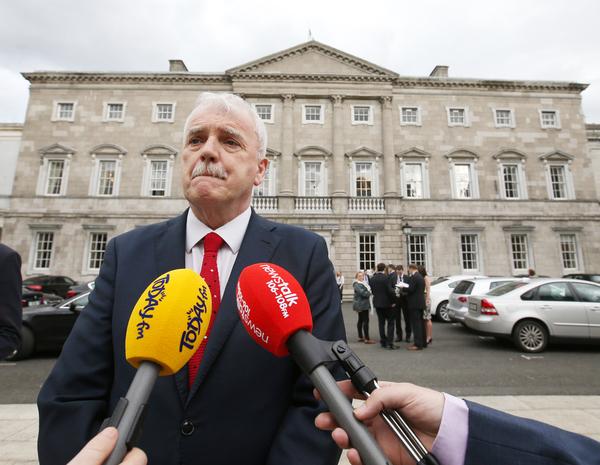 Taoiseach Enda Kenny resigns.