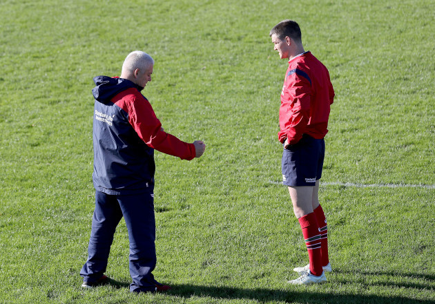 Warren Gatland and Jonathan Sexton
