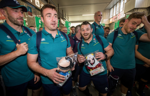 Niall Scannell and Cian Healy