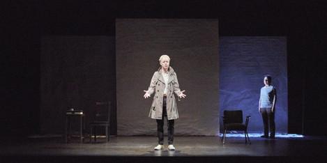 4. Noelle Brown and Bríd Ní Neachtain in POSTSCRIPT at the Abbey Theatre - Photo Ros Kavanagh