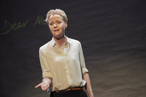 1. Noelle Brown in POSTSCRIPT by Noelle Brown & Michèle Forbes dir. by Conor Hanratty at the Abbey Theatre. Photo Ros Kavanagh
