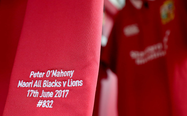 A view of Peter O'Mahony's jersey