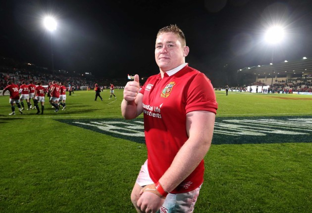 Tadhg Furlong celebrates winning