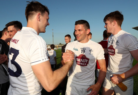 Pascal Connell and Eamonn Callaghan after the game