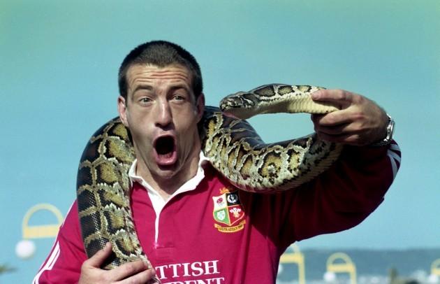 John Bentley with a snake 1997