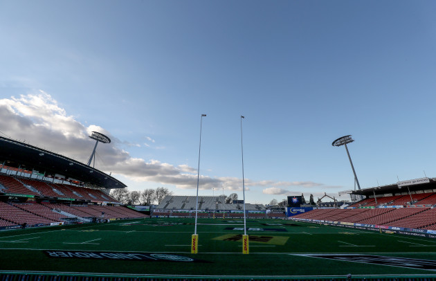 A view of FMG Stadium Waikato before the game
