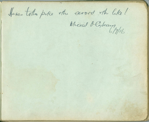 Rare 1917 autograph book donated to Clare Museum