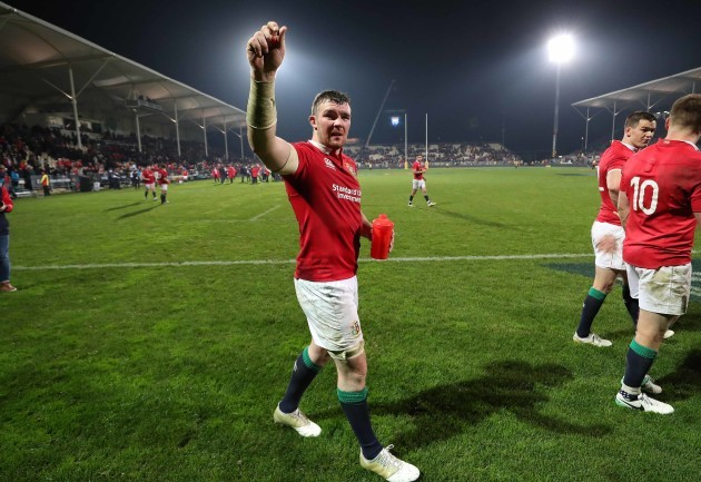 Peter O'Mahony celebrates winning