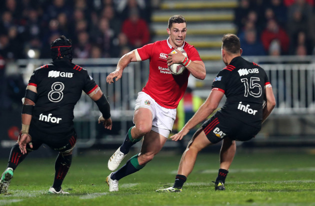 George North with Jordan Taufua and Israel Dagg