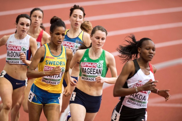 Ciara Mageean on her way to finishing fourth