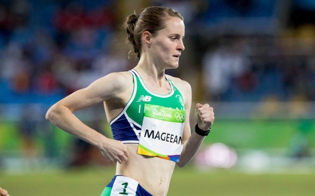 Ciara Mageean on her way to finishing second and qualifying for a semi-final