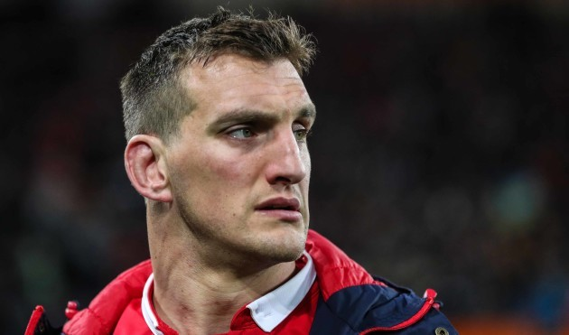 Sam Warburton dejected after the game