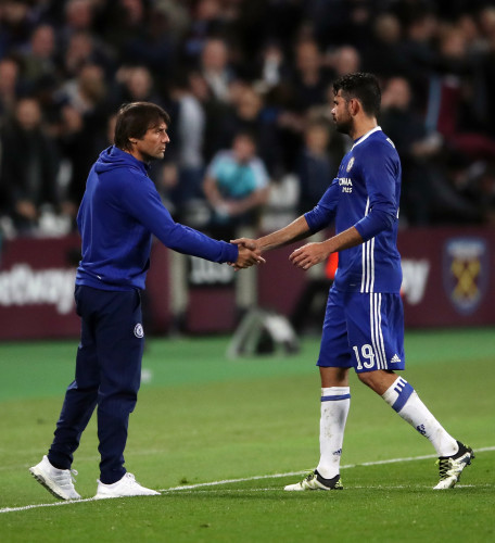 Antonio Conte and Diego Costa File Photo