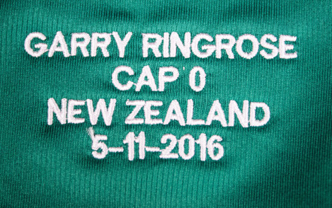 A general view of Garry Ringrose's Ireland jersey ahead of the game