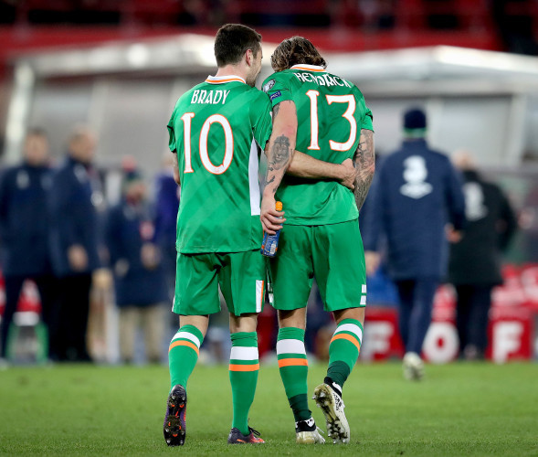 Robbie Brady with Jeff Hendrick