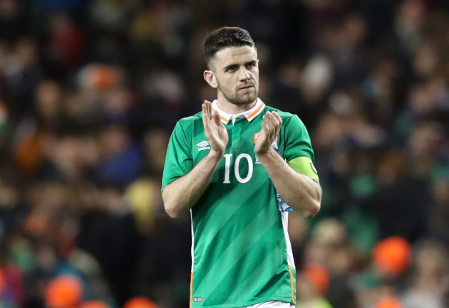 Robbie Brady dejected