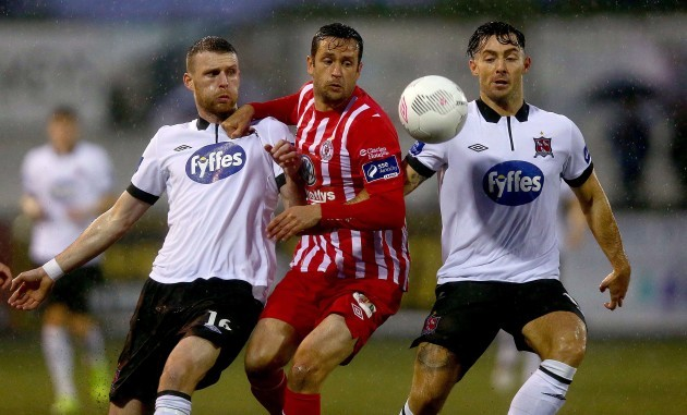 Tim Clancy with Ciaran Kilduff and Richie Towell