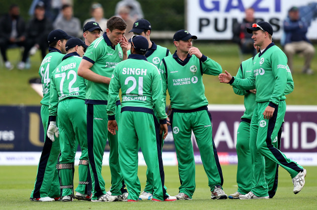 Ireland celebrate a catch