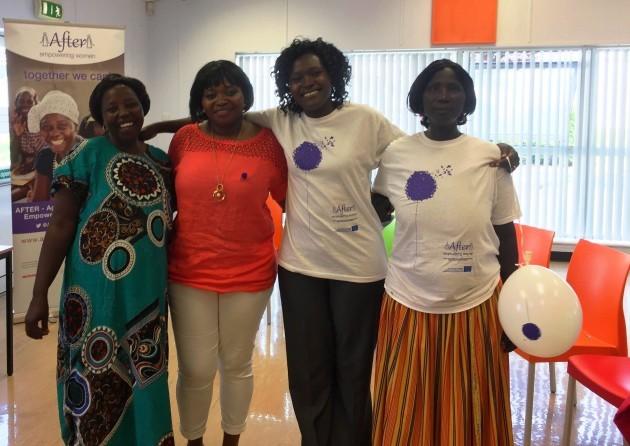 Susan, facilitator Ola, Dinah and Cholonge in Direct Provisison Centre in COrk