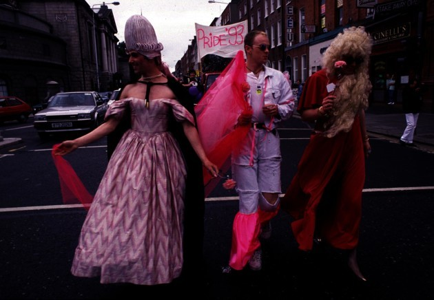 SCENES FROM DUBLIN GAY PRIDE MARCH. 1993 PIC: LEON FARRELL/PHOTOCALL IRELAND!