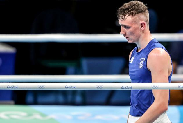 Brendan Irvine dejected after his fight