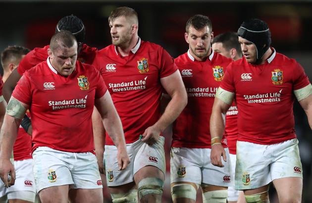 British and Irish Lions Jack McGrath George Kruis Sam Warburton and Sean O'Brien