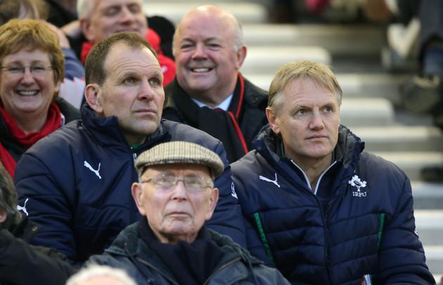 John Plumtree alongside Joe Schmidt