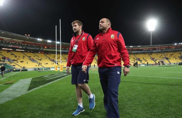 Iain Henderson and Rory Best
