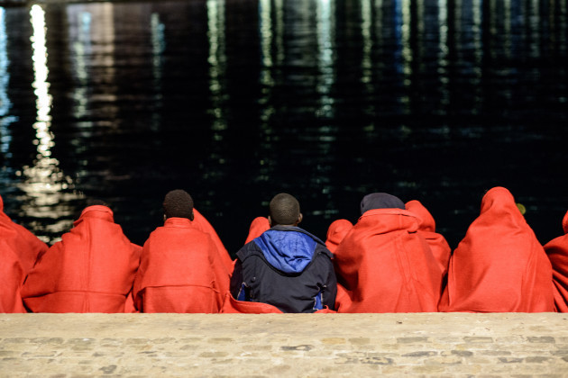 Spain: Migrants rescued by the Spanish maritime in Malaga
