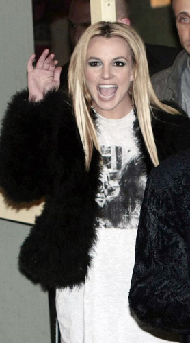 Britney Spears arrives for X Factor filming - London