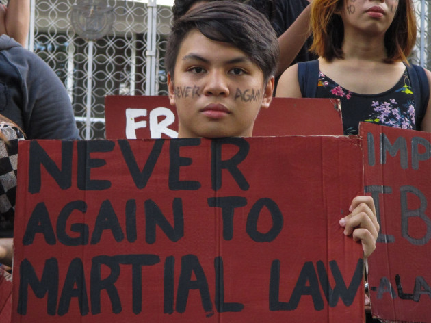 Philippines: Rally against Martial Law in Mindanao