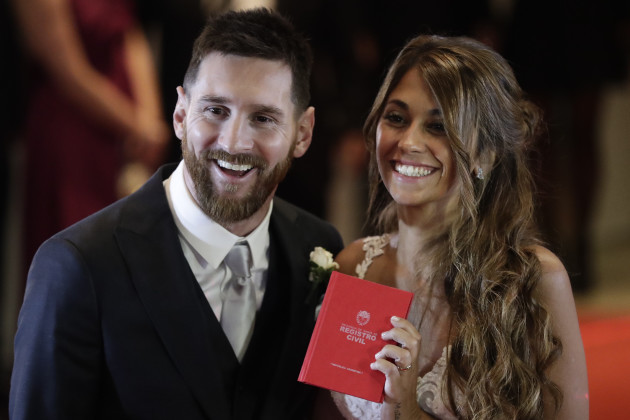 Argentina Soccer Messi's Marriage