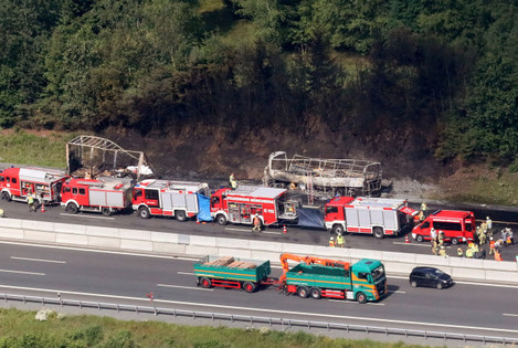 Travel Bus Accident in Muenchberg