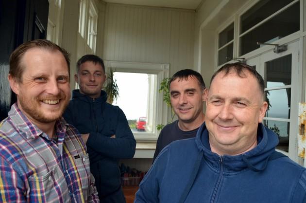 Phil Thompson CEO with residents Gavin Uzell, Matin Considine, Nigel Nash