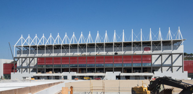 A view of ongoing redevelopment at Pairc Ui Chaoimh
