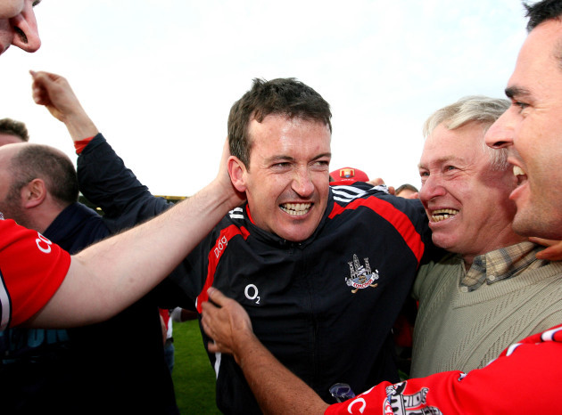 Donal Og Cusack celebrates at the final whistle